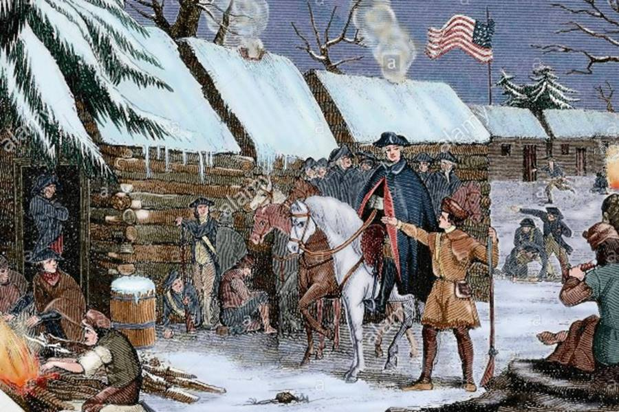 american-revolutionary-war-1775-1783-george-washington-1732-1799-visits-G3PA64