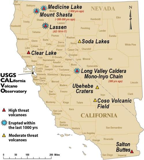 Lake County, California Volcanic Fields and their eruptive history on
